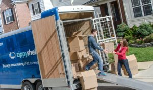 Moving truck Zippy Shell as your most reliable residential storage
