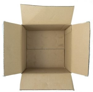 an open box not ready to be put in residential storage.