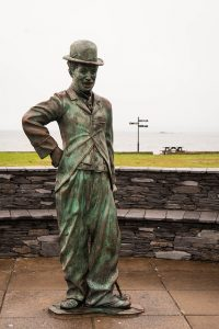 a Charlie Chaplin statue in Westerville, OH