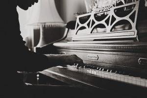 A broken piano