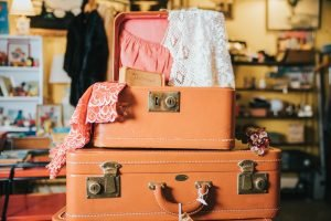 Suitcases with clothes