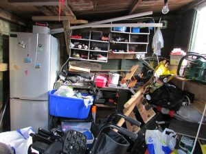 a garage which definitely needs the help of storage units Blacklick Ohio