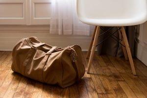 bag on the floor