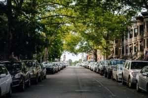 cars parked in the street