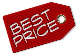 Price tag for the best moving rates