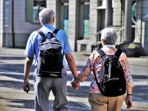 moving to New Albany as a senior - older couple on the street