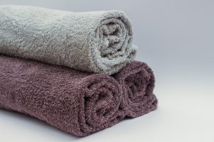 use towels to prepre your furniture for long term storage