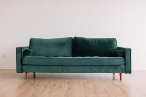 a green couch