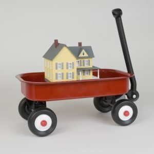 Toy house on the wheels