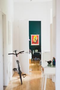 in-house storage solutions in your white hallway