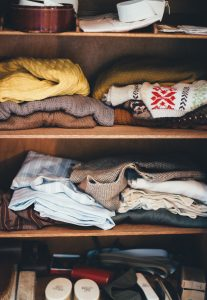 storing your clothes long term from your closet