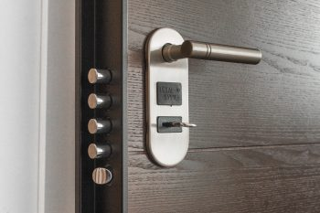 burglar-proof your Hilliard home - a door with a lock