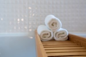 Three folded towels