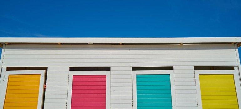Colorful storage doors