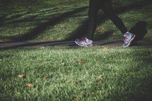 overcoming moving anxiety by running outdoors
