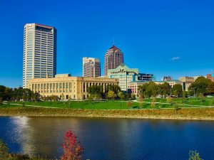 A view of Columbus, OH