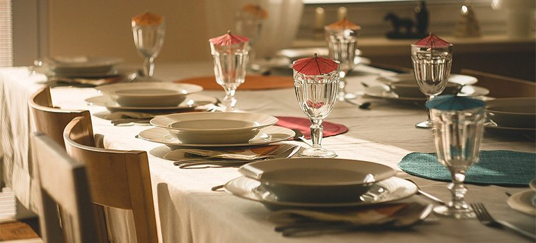 A set table