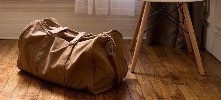 A bag on a floor