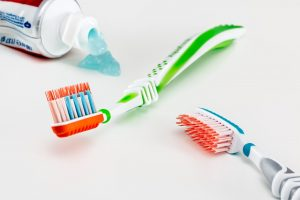 toothbrush and tooth paste