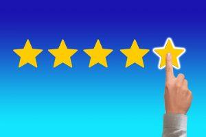 finger pointing 5 stars