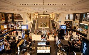 An inside of a shopping mall