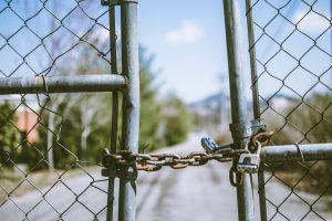 Broken fence.