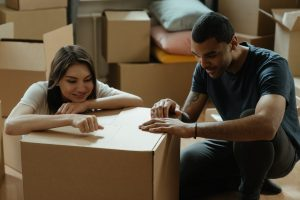 What is the first or the last thing to handle when storing boxes.