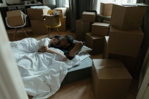couple Packing for storage and for a move