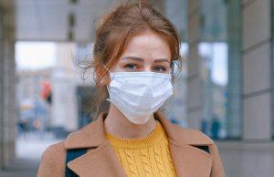 A woman wearing a mask.A woman wearing a mask.