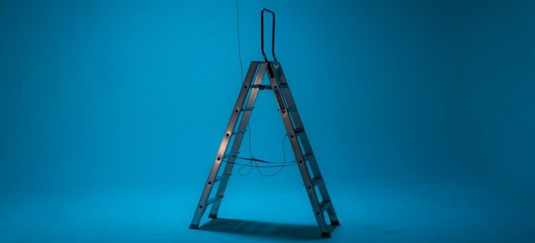 An opened ladder