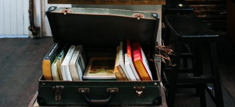 An old suitcase.