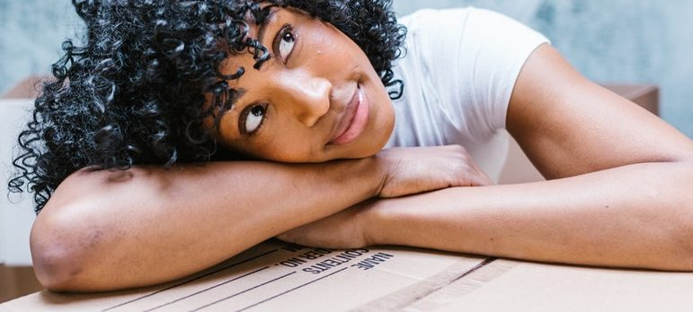 woman thinking about job opportunities in Pickerington